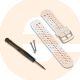 Garmin Replacement Strap - White/Orange